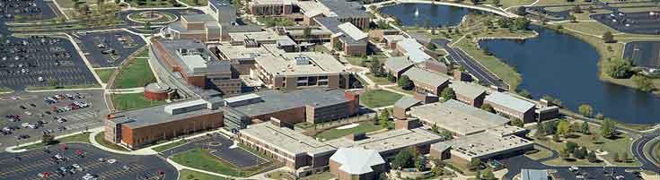 Aerial view of Harper College, courtesy Harper
